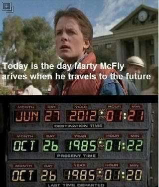 studioworkout:  Today's the day Marty McFly goes to in the future. Fuck a flying car, how about some healthcare?  Why do I feel like that date is wrong? My 80s youth tells me it was always October 26th, no matter what year he went to. Either way, yeah healthcare.