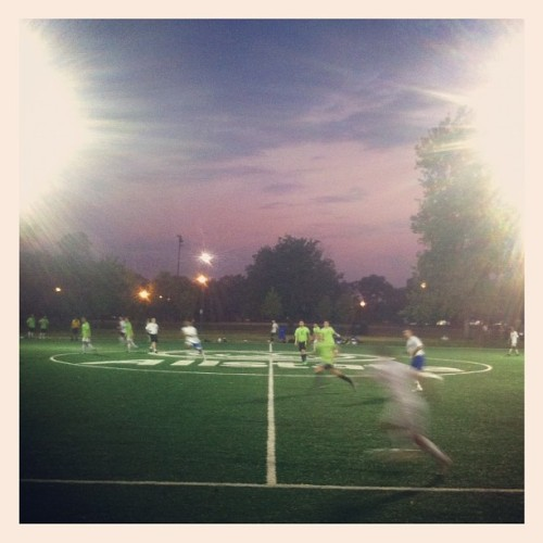 Soccer at sunset (Taken with Instagram at Humboldt Park)