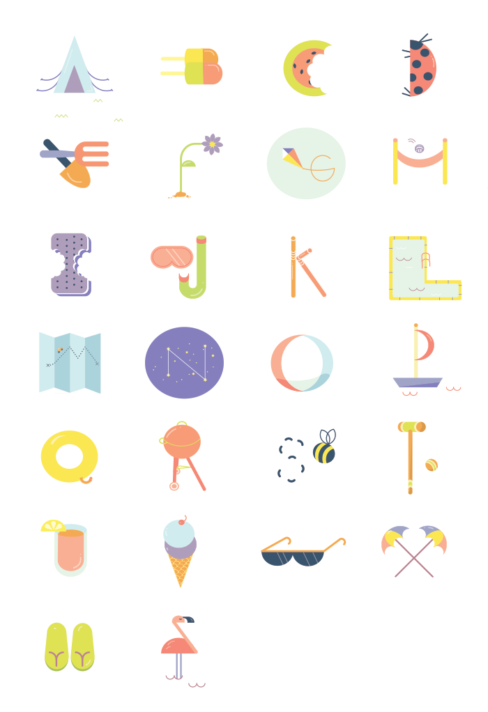 New personal project inspired by typography & sunshine!View details & close-ups on my portfolio site.