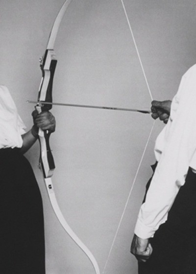 "motherofmaliciousmutants:  The Other: ""Rest Energy"", 1980 by Marina Abramović"
