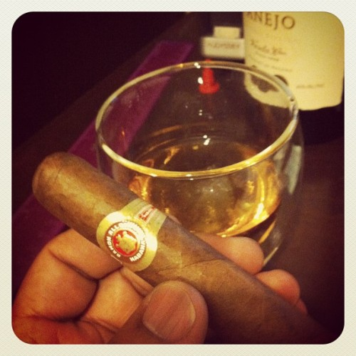 Relaxation time with Cuban #cigar and cheap #rum (Taken with Instagram)