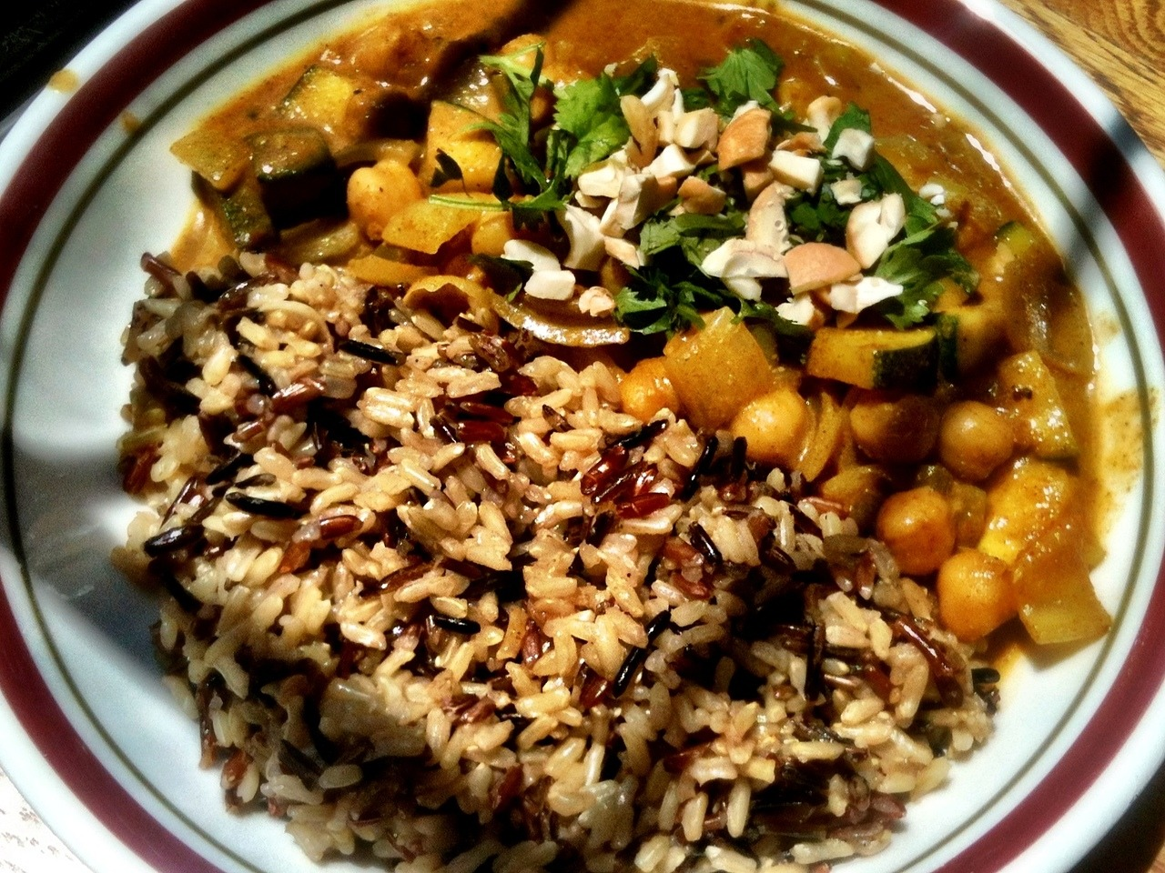 Easy recipe for coconut chickpea curry.