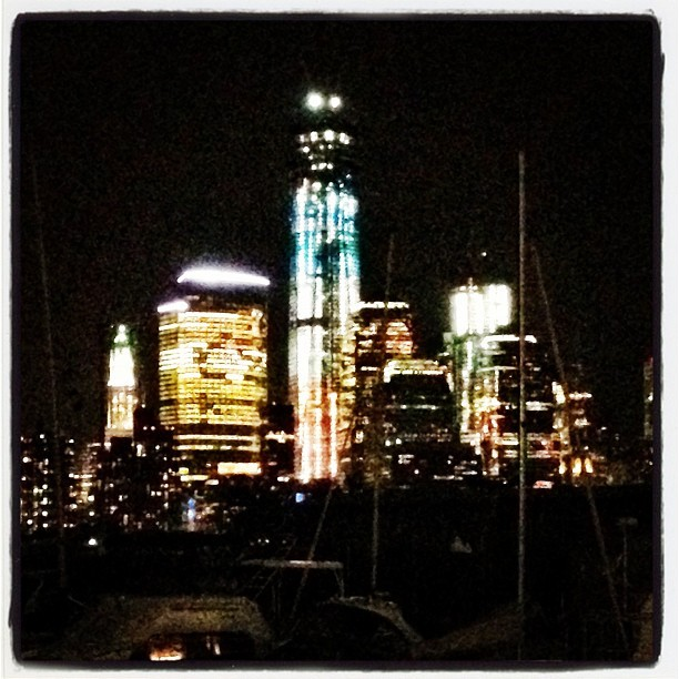 World Trade Center in Red, White and Blue (Taken with Instagram at Michael Anthony's)