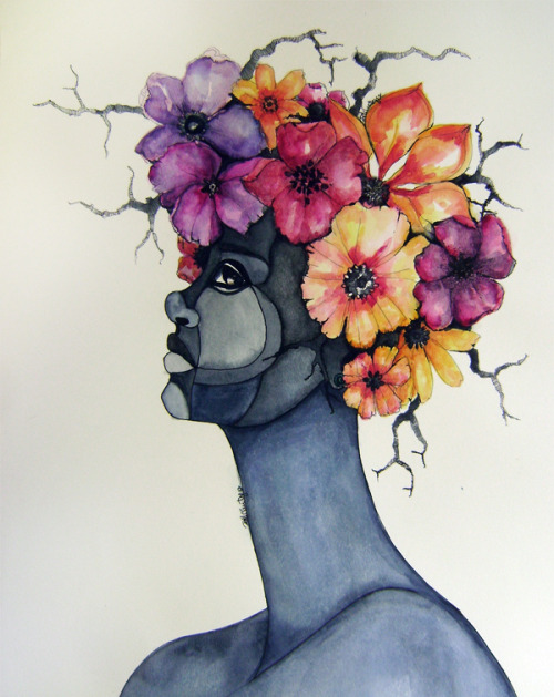 Blooming Fool. brianna mccarthy. 2012. watercolour.