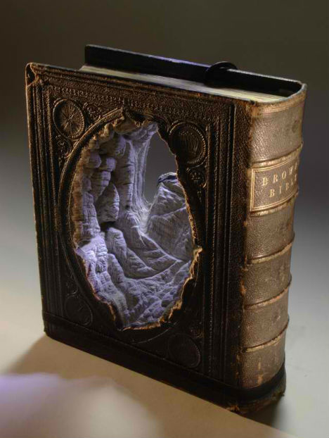 (via Topographic Tomes: More Carved Books by Guy Laramee | WebUrbanist)