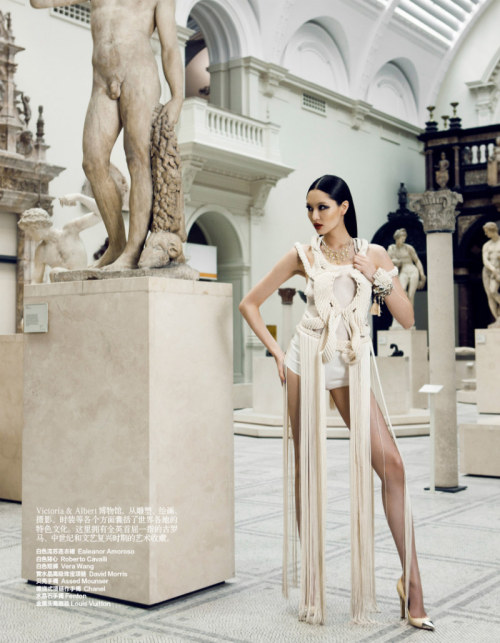 aintyourforte:  Bonnie Chen Tours London in Style for Harper's Bazaar China July 2012, Shot by Zack Zhang