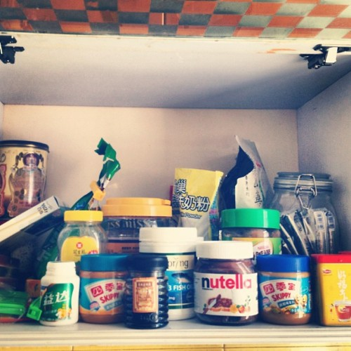 28. On the shelf #photoadayjune - we believe in peanut butter and milo (Taken with Instagram)
