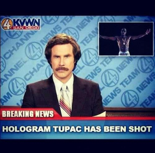 HOLOGRAM TUPAC HAS BEEN SHOT  again ?!?!?!