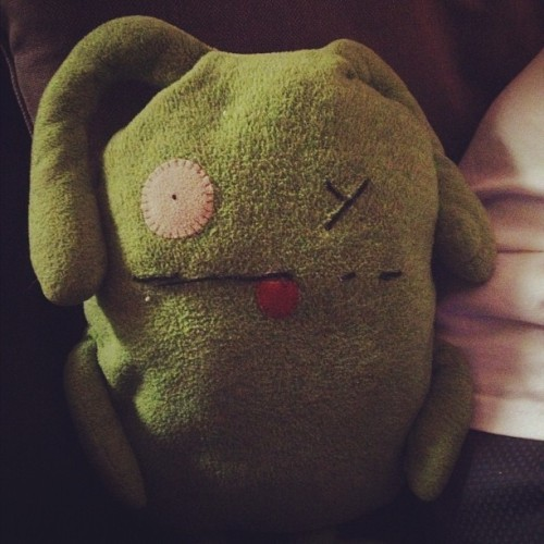 Soft. #photoaday #june #day29 #uglydoll #ox #green #cuddly (Taken with Instagram)