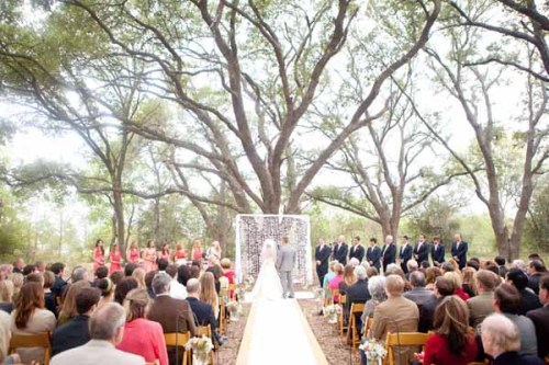 More of my latest obsession: giant tree ceremony backdrop!