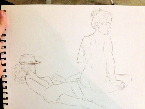 From figure drawing tonight.