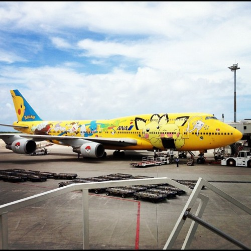 Am I taking the Pokemon plane back to Kobe? It's so cute!!!!!!! #plane #japan #pokemon #okinawa #cute #kawaii (Taken with Instagram at 那覇空港 (Naha Airport - OKA/ROAH))