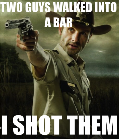 The Walking Dead: Two guys walked into a bar…