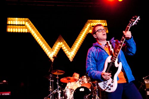 Weezer Announce 'Blue Album' and 'Pinkerton' Nostalgia Shows…  Love early Weezer albums and hate the high seas? You're in luck: fans who were skint (or sea-squirmish) around the time Weezer cruise tickets went on sale last year may now enjoy the emo-Caribbean jaunt's musical accoutrements, which revived the band's 2010 Blue Album-and-Pinkerton tour in a double performance of the albums, beyond these YouTube fan videos. The band just announced a new festival-heavy tour via a short, sweet, and to-the-point video (looking at you, Green Day) posted to their YouTube account that will include a pair of über-meta shows repeating those nostalgic performances of the entirety of two of their most beloved 90s albums (via This is Fake DIY).  The 11-date adventure will hit up only two traditional venues (the rest are all festivals — there's even a fair!) before descending onto the Hard Rock Live stage in Orlando, coincidentally not too far from where the Weezer Cruise docked, in Miami, for two nights consisting only of the band's first and second albums, The Blue Album and Pinkerton, in their entirety. Sadly, the jaunts probably won't include a repeat performance from that pint-sized fan who rocked along to Ozma's set on the cruise. Another appearance by Lost's Jorge Garcia, though… (More via SPIN…)