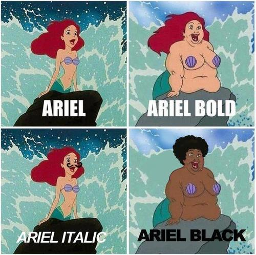 Mermaid as Fonts