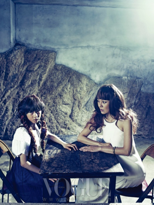 kim yunjin & kim saeron, vogue korea july 2012