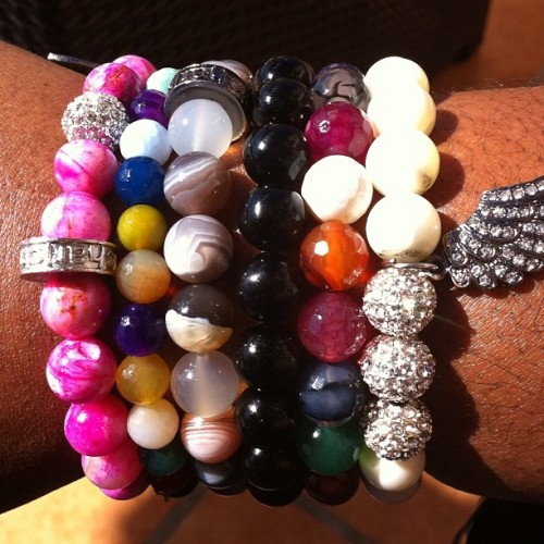 Wrist game always poppin! #shop1937 #fashion #shamballa #blogger #ootd #shamballa #macrame #jewelry #pink #red #pave #armcandy #stack  (Taken with Instagram)
