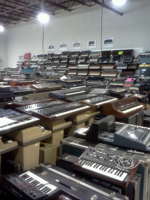 rucyl:  I went to the most amazing synth warehouse today. In northern Jersey…  Goodness gracious.