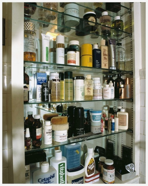 Andy Warhol's bathroom cabinet (via Douglas Coupland)