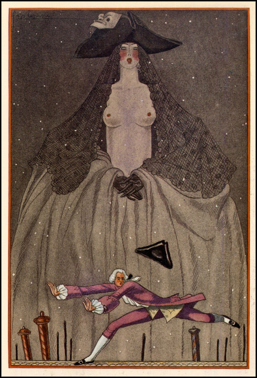(via The Pictorial Arts: Ah, Venice)  Georges Lepape — 1929  for L'Initiation vénitienne by Henri de Régnier, published by the Société des amis du livre