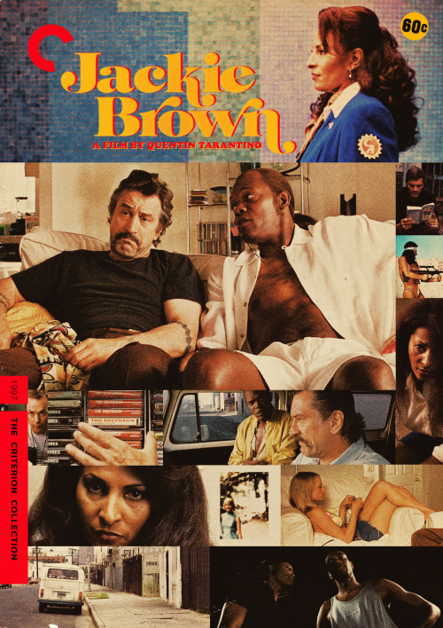 "Criterion Cover for Quentin Tarantino's ""Jackie Brown"" QT's Homage to the famed Exploitation pictures of the 70's is not what it seems. It's filled with sharp smart dialogue, great Los Angeles areas such as Torrance, Hawthorne and the famed Del Amo Shopping Mall. Some unlikable people that we kinda care about, a performance by Robert Deniro that is wild and brutal not to mention a soundtrack to die for. But don't take my word for it. Here's what the legendary Film Critic Roger Ebert had to say about Tarantino's follow up to Pulp Ficition "" This is the movie that proves Tarantino is the real thing, and not just a two - film wonder boy."" MM = Midnight Marauder Behance 