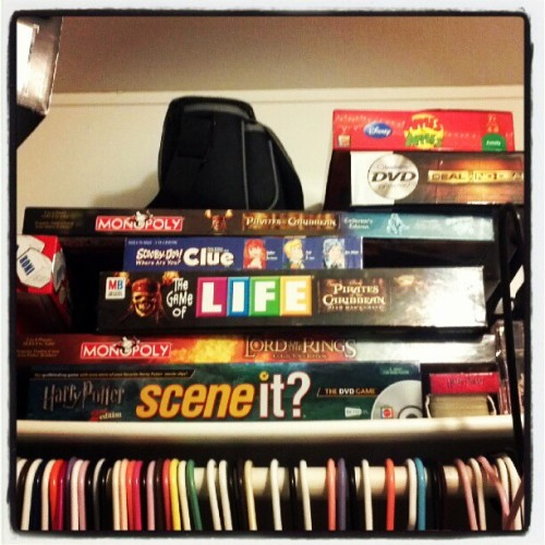 #photoadayjune #daytwentyeight #ontheshelf My game shelf in my #closet #boardgames #instagram (Taken with Instagram)