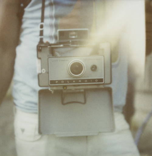 codywbratt:  Polaroid makes my heart go pitter-patter. This is Garrett Cornelison with his Land Camera shot on Polaroid 600 at Phoot Camp.