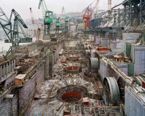 infiniteinterior:  Dam #6, Three Gorges Dam Project, Yangtze River, 2005  Edward Burtynsky