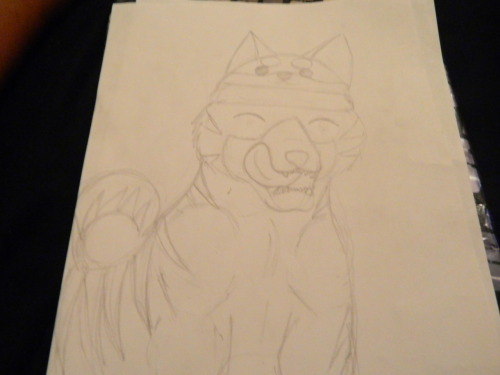 Ginga-fied Loki. For Wulf and Koi, since I saw a picture with Loki wearing a Mira hat (I think… o_o) AND IT WAS SOOOO CUTE. Sorry if it's bad! I haven't draw a canine in 30 years let alone in Ginga style. I've been watching my GDW dvd all night, I need to get my hands on GNG.