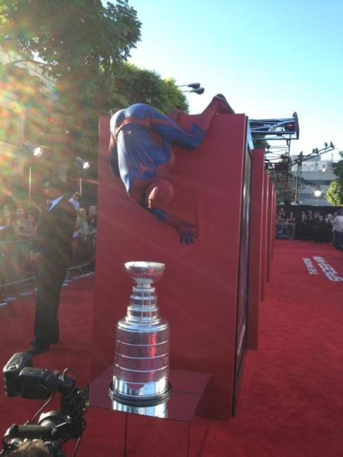 Spiderman, Spiderman, does whatever a Spiderman does   pic c/o of Dustin Brown