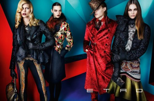 Etro Fall 2012 Campaign by Mario TestinoEtro Fall 2012 Campaign by Mario Testinois kept in deemed coloration mixed with the decadent…View Postshared via WordPress.com