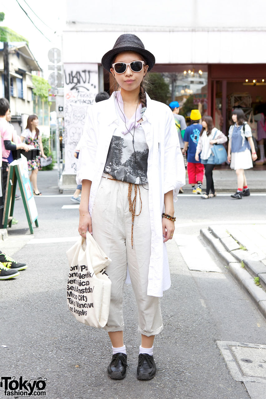 Abbey Road t-shirt & American Apparel canvas bag in Harajuku.