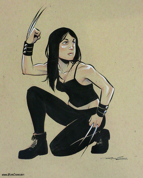thehappysorceress:  X-23 by Ron Chan