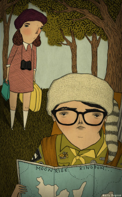 finally got to see Moonrise Kingdom and I cannot get it out of my head. I'm in love. Moonrise Kingdom 2012, ink, graphite, digital © Mai Ly Degnan www.mailyillustration.com