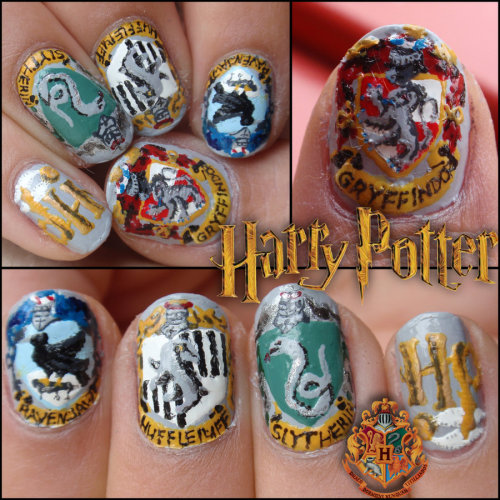 Harry Potter nails by ~JawsOfKita-LoveHim