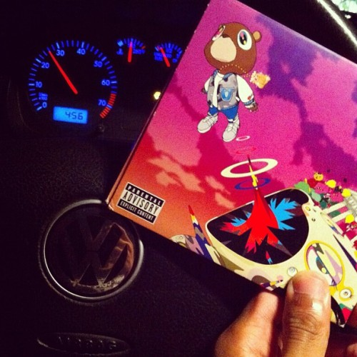 Bumbing to some #goodmusic #kanyewest #graduation while on the road in my ##VW #vdub #vdub #golf #mk4 #volkswagen #vdublove  (Taken with Instagram)