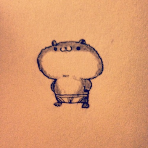 It's 3pm, hamster. Get a job. #tumblrgram #sketch http://instagr.am/p/Mco4_hgva-/