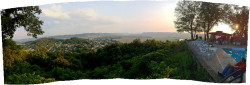 "LARGE Panorama view of the Scioto and Ohio River valleys meeting at Portsmouth, OH, from our shooting location at the ""2-mile house"" for ""SCORNED"""