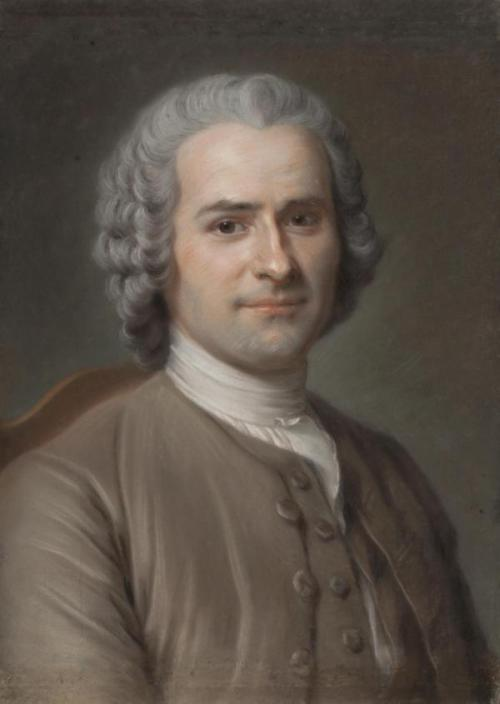 a-l-ancien-regime:  Happy birthday to Jean-Jacques Rousseau! Jean-Jacques Rousseau was born in Geneva 300 years ago (portrait by Maurice Quentin de la Tour, 1753) Rousseau's autobiographical writings — his Confessions, initiated the modern autobiography, and his Reveries of a Solitary Walker — exemplified the late 18th-century movement known as the Age of Sensibility, featuring an increasing focus on subjectivity and introspection that has characterized the modern age. His Discourse on the Origin of Inequality and his On the Social Contract are cornerstones in modern political and social thought.