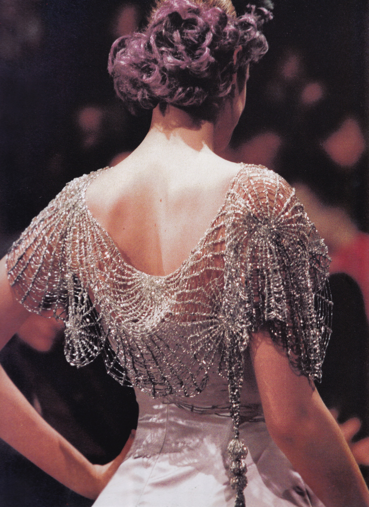 kisses-sweeter-than-wine:  Givenchy Haute Couture by John Galliano SpringSummer 1996 photographed by B. Pellerin