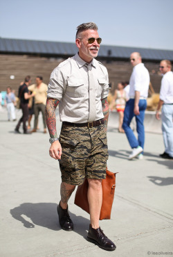 Camo @NickWooster #streetstyle happens shot by @leeoliveriass