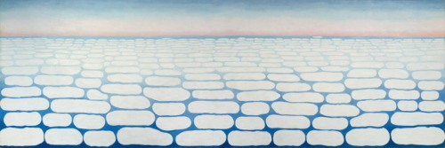 museumuesum:  Georgia O'Keeffe Sky Above Clouds IV, 1965 Oil on canvas 243.8 x 731.5 cm (96 x 288 in.)