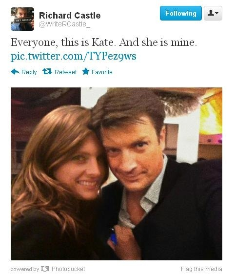 Rick Castle and Kate Beckett on Castle