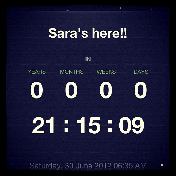 21 hours to go!!! (Taken with Instagram)