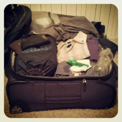 Everything is purple. Leaving for Hawaii at 0500.  (Taken with Instagram)