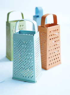 ohyaydesign:  a grate idea! DIY: spray paint old metal box grater and place a candle underneath (candlelight will twinkle through holes!)