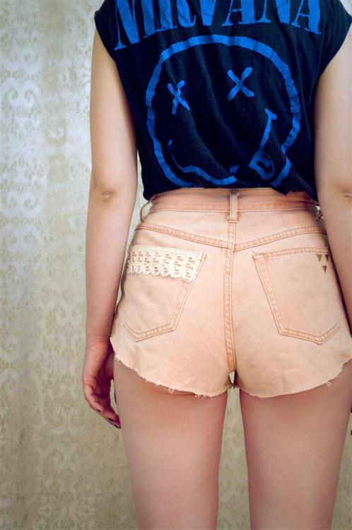 lace & triangle hot pants by karmazsin