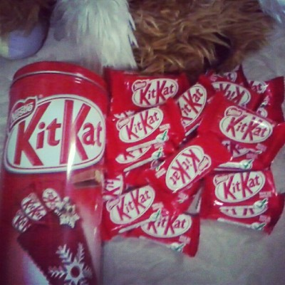 Kitkat for mirienda :) (Taken with Instagram)