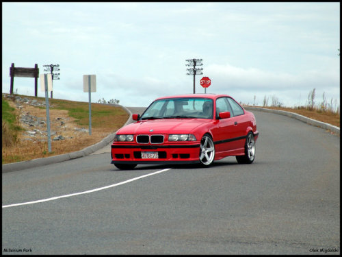 the80sareforever:  Hahaha! Olek's old E36, so long ago! MVR Magnums and the whole 9!