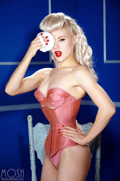 """Powder Puff"" by Holly Randall - Corset and lingerie by Waisted Couture Entire SUPERSIZED set available for members only at TheMoshRoom.com This set pushes TheMoshRoom.com over the 16,000 image mark! Thank you members for your continued support!"